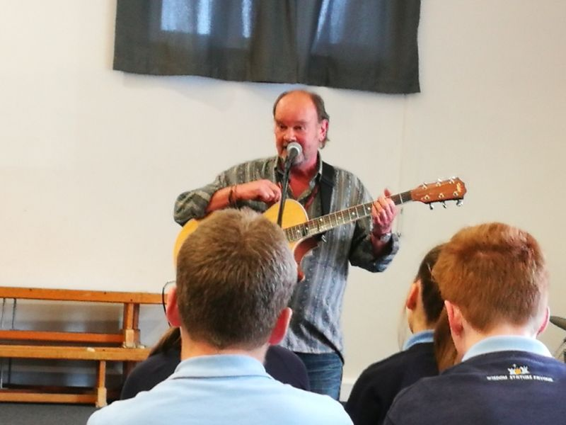 Christian songwriter, Paul Field, visits the school